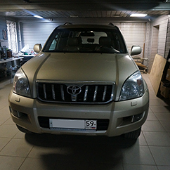 Установка фаркопа Toyota Land Cruiser Prado